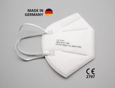 FFP2 Halbmaske, zertifiziert CE2797, hergestellt in Deutschland